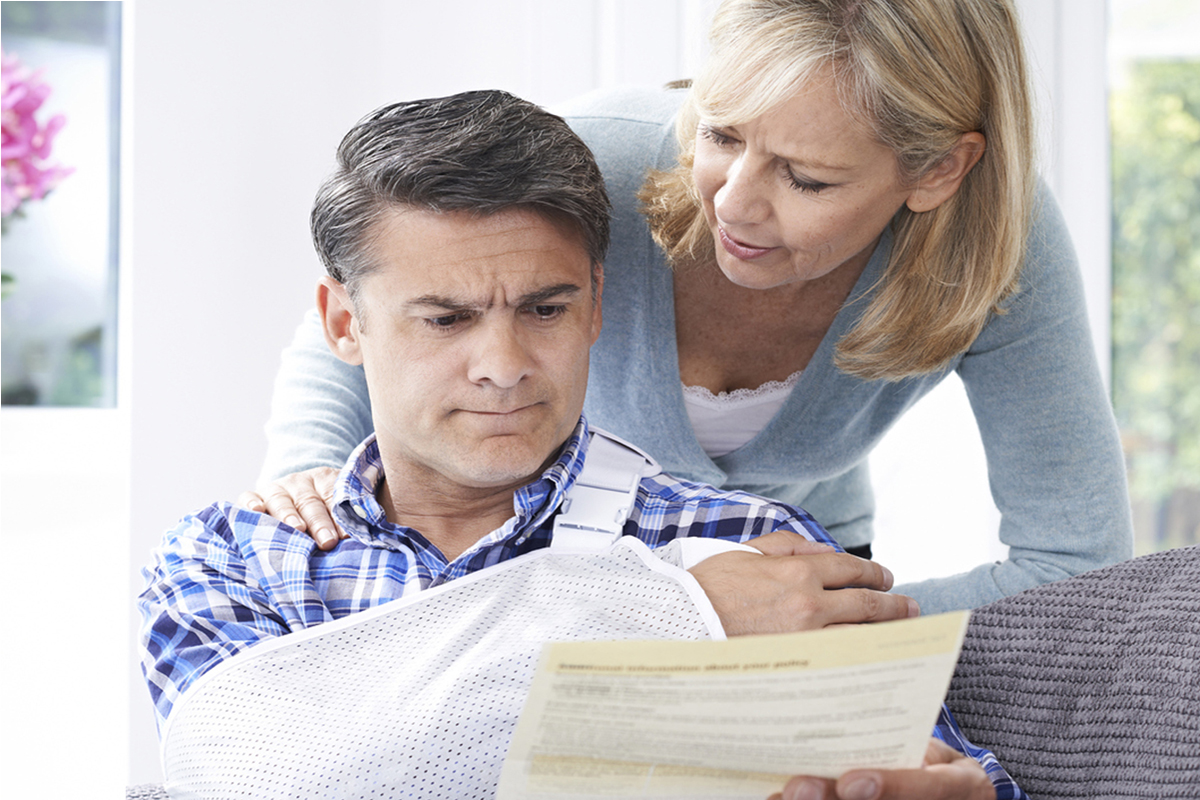 Personal Injury Helpline - Worried Couple